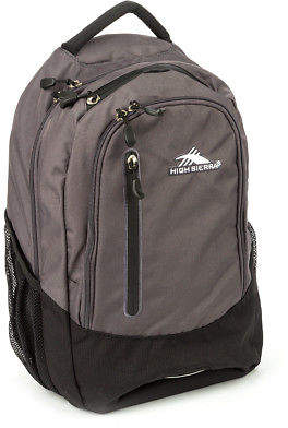 High Sierra NEW Fooser Mercury & Black Backpack