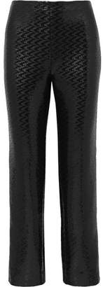 Giorgio Armani Sequined Chiffon Wide-leg Pants - Black