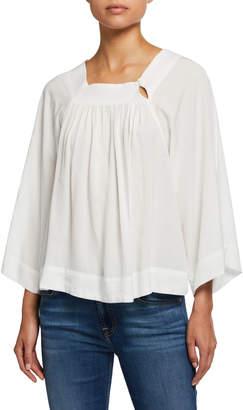 Velvet Heart Suzanne Pleated Kimono-Sleeve Top