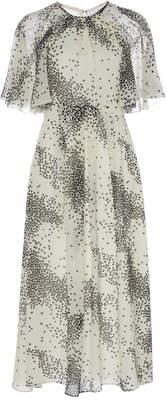 Giambattista Valli Printed Silk A-Line Cocktail Dress