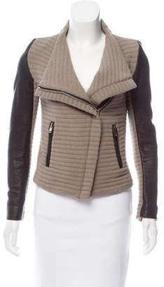 IRO Mulen Leather-Trimmed Jacket