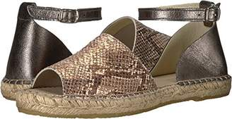 Kenneth Cole New York Women's Sammy Flat Espadrille with Ankle Strap Wedge Sandal
