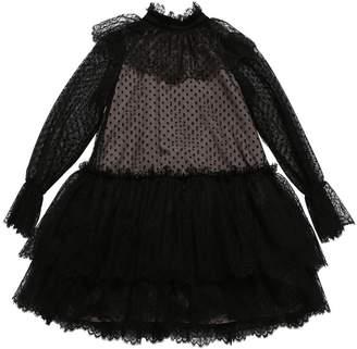 Alberta Ferretti PLUMETIL LACE & TULLE PARTY DRESS