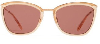 Garrett Leight Louella 51 Square Acetate Sunglasses - Womens - Pink