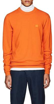 Acne Studios Men's Nalon S Emoji Wool Sweatshirt - Orange