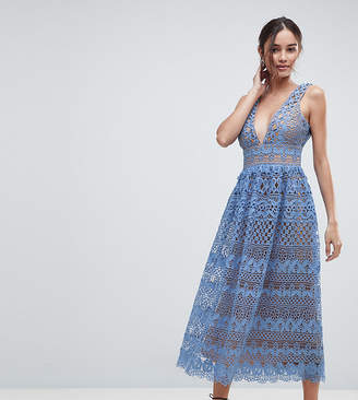 boohoo Lace Midi Dress