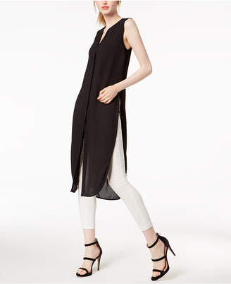 Bar III Solid Side-Slit Tunic, Created for Macy's