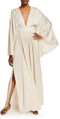 Johanna Ortiz Jacquard Cape Tunic Dress