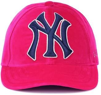 Gucci NY Yankees velvet baseball cap
