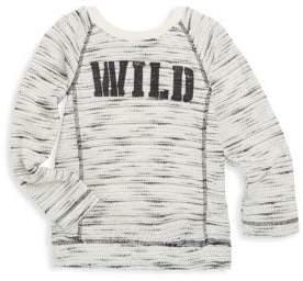 Petit Lem Little Girl's & Girl's Textured Graphic-Print Sweater