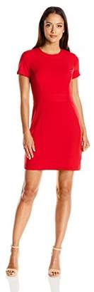 Lark & Ro Women's Petite Stretch Sheath Dress