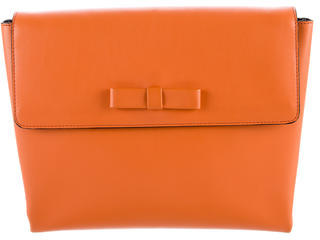 MarniMarni Bow-Accented Leather Clutch