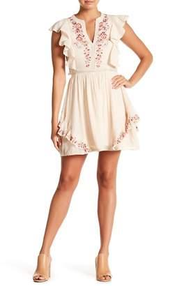 Love Sam Monika Embroidered Mini Dress