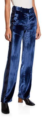 Sies Marjan Velvet Slim Leg Tuxedo Pants