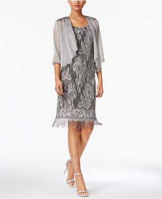 Sl Fashions Glitter Crochet Dress and Jacket $119 thestylecure.com