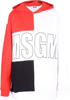 MSGM Multicolored Branded Hoodie