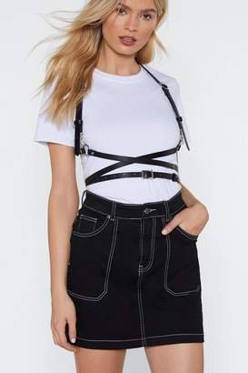 Nasty Gal Hold Your Own Faux Leather Harness