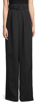 MS MIN Women's Wide-Leg Wool Pants