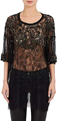 Gary Graham WOMEN'S EMBELLISHED LACE OVERSIZED BLOUSE