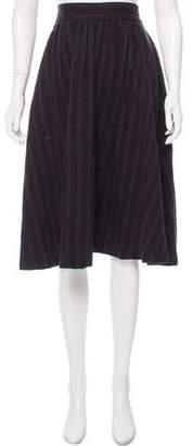 Steven Alan Stripe Wool-Blend Skirt
