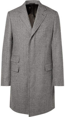Kingsman - Prince Of Wales Checked Wool Overcoat - Gray