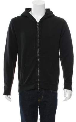 Balmain Hooded Zip-Front Sweatshirt