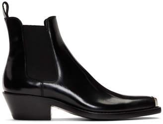 Calvin Klein Black Western Chris Chelsea Boots