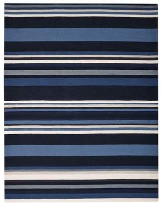 Pottery Barn Teen League Stripe Rug, 5'x8', Blue