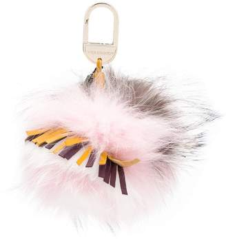 Yves Salomon Accessories furry keyring