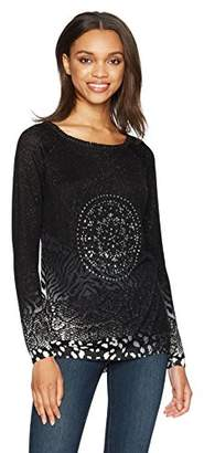 Desigual Women's Woman Flat Knitted Thin Gauge Pullover