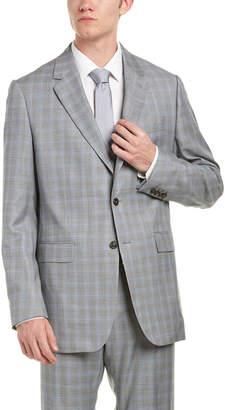 Façonnable Wool Suit W/ Flat Front Pant