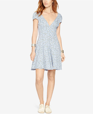 Denim & Supply Ralph Lauren Floral-Print V-Neck Dress $98 thestylecure.com