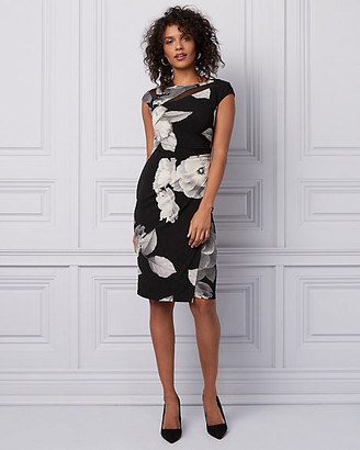 Le Château Floral Print Pleated Wrap-Like Dress