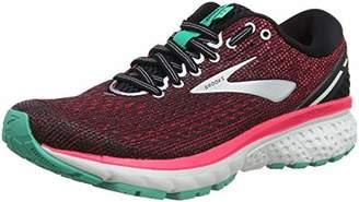Brooks Women's Ghost 11 2A Width Running Shoe (BRK-120277 2A 40849D0 11 BLK/PNK/AQU)