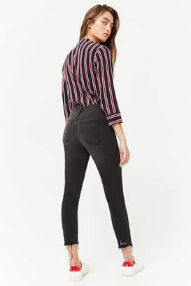 Forever 21 Distressed Ankle Skinny Jeans