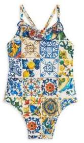Dolce & Gabbana Baby Girl's Printed One-Piece Swimsuit