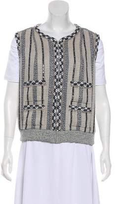 Chanel Embellished Tweed Vest