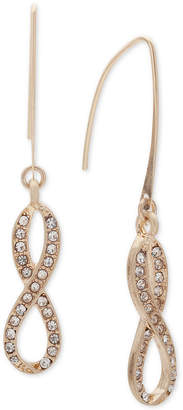 lonna & lilly Gold-Tone Pave Infinity Threader Earrings