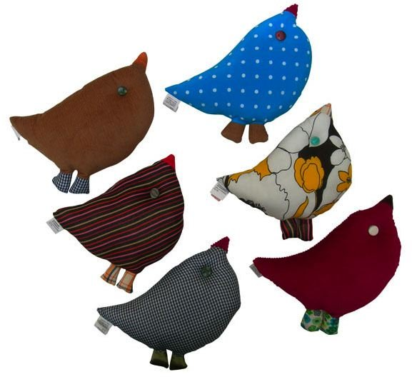 zid zid kids One of a Kind Bird Cushions -set of six