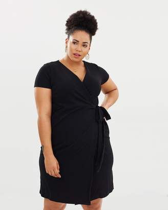 Wrap Fit-and-Flare Dress