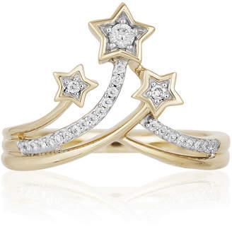 ENCHANTED .COM FINE JEWELRY BY DISNEY Enchanted Disney Fine Jewelry 1/10 CT. T.W. Genuine Diamond 10K Gold Tinker Bell Ring