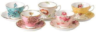 Royal Albert 100 Yearsof Cup and Saucer Set (Set of 5)