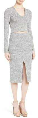 Alice + Olivia Spiga Front Slit Pencil Skirt