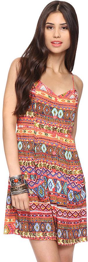 Forever 21 Vibrant Tribal Dress