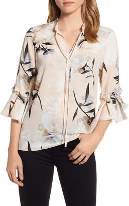 Karl Lagerfeld Paris Ruffle Sleeve Blouse