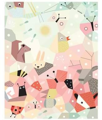 Nurseryworks Nursery Works Menagerie Cubist Paper Print
