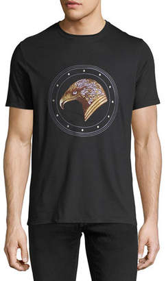 Stefano Ricci Stitched Eagle Graphic T-Shirt