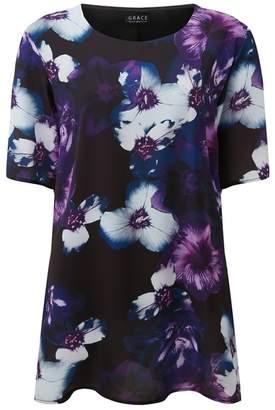 Grace Purple High Low Hem Tunic