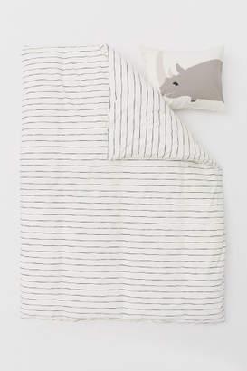 H&M Patterned Duvet Cover Set - White
