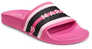 d93b42122d46f9 at The Bay · Marc Jacobs Logo Sport Slide Sandals